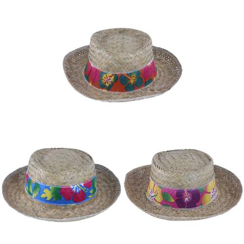 Hawaiian Men's Straw Hat With Bandana