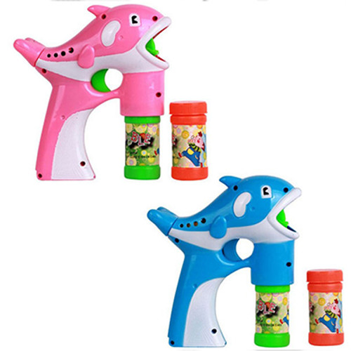 L.E.D Flashing Dolphin Bubble Blaster With Sound