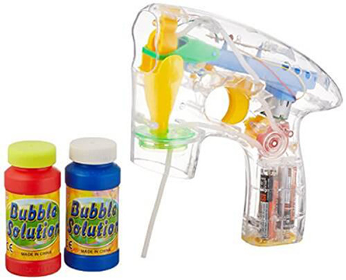 L.E.D Flashing Transparent Bubble Blaster With Sound