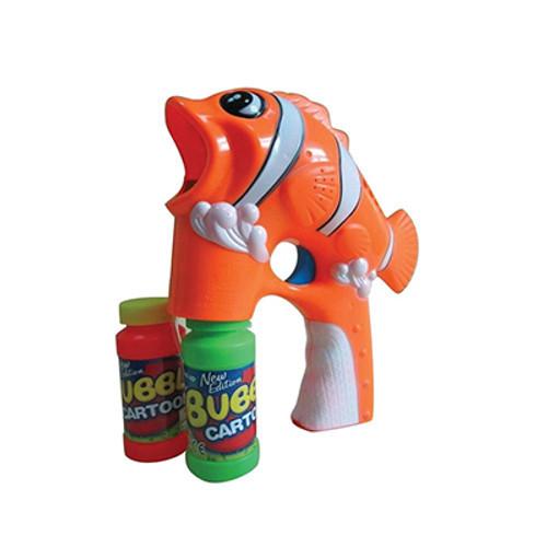 L.E.D Flashing Clown Fish Bubble Blaster With Sound