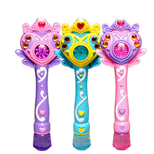 L.E.D Flashing Magical Wand Bubble Blaster With Sound
