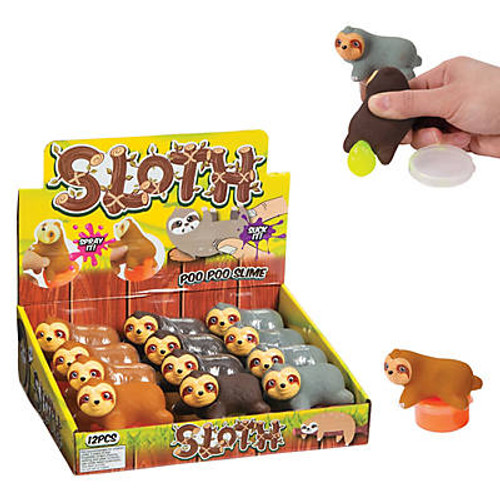 Pooping Sloth Slime Containers