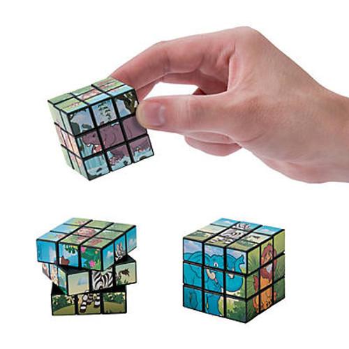 Zoo Animal Mini Puzzle Cubes