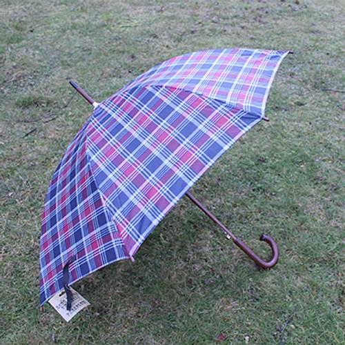 Auto Open Wooden Handle J Stick Umbrella