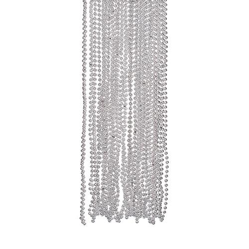 Silver Bead Necklace Bulk