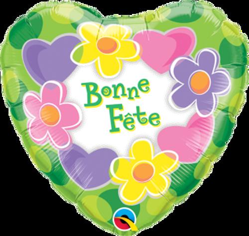 Bonne Fête - Coeurs et fleurs