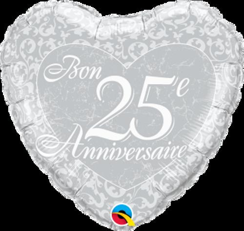 Bon 25e anniversaire - Coeurs