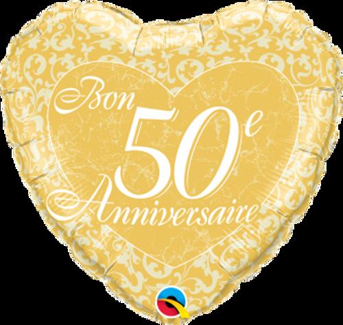 Bon 50e anniversaire - Coeurs