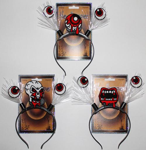 Halloween Icon Fiber Optic Flashing Headband