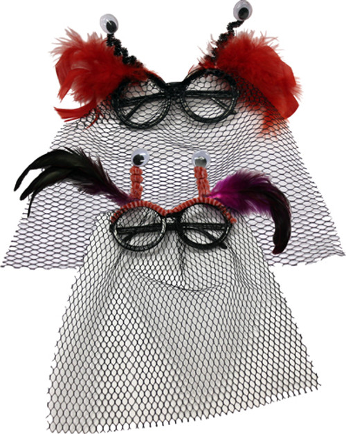 Novelty Halloween Eyeglasses With Netting