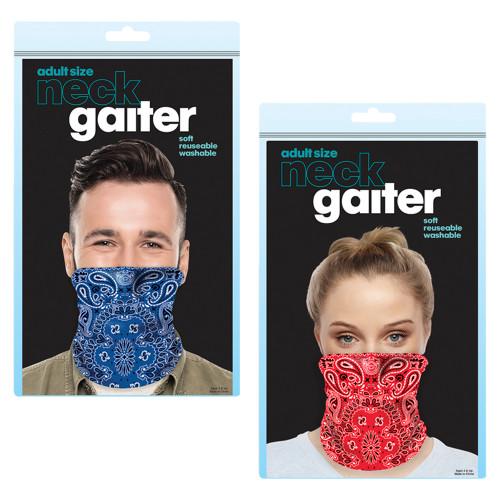 Bandana Print Neck Gaiter Mask