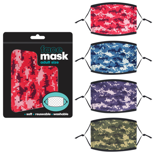 Digital Camo Adult Face Mask