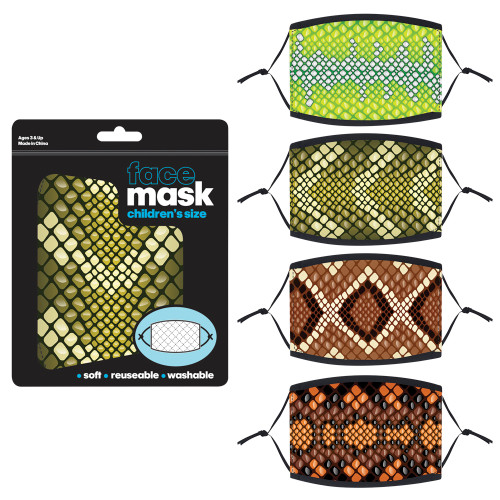 Snake Print Child Face Mask
