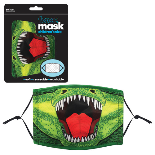 T-Rex Print Child Face Mask