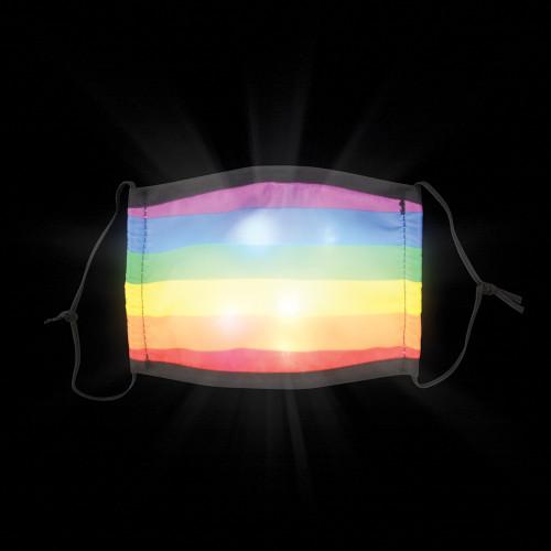 Light-Up Rainbow Face Mask Adult Size