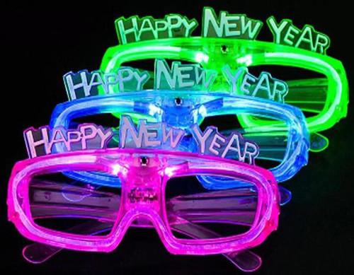 Flashing Happy New Years Shades
