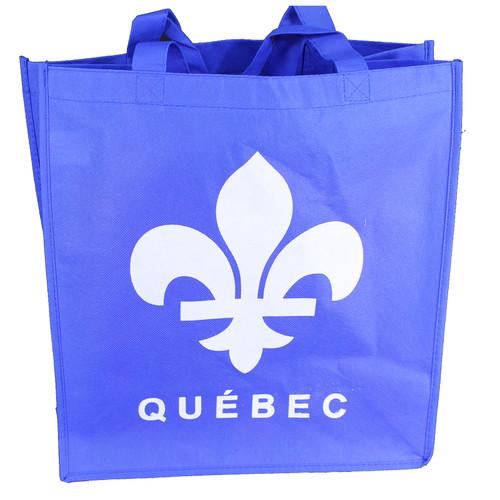 Quebec Print Reusable Non Woven Shopping Bag | Sac à provisions non tissé réutilisable imprimé Québec