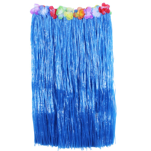 Blue Adult Flowered Hula Skirts