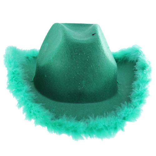 Cap off the perfect Leprechaun costume this St. Patrick's Day! This Flashing Shamrock Cowboy hat with fur trim is fun to wear to a St. Patrick's Day parade or party! Put on a hat, declare yourself Irish and have some fun!