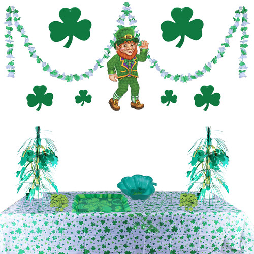 Our St. Patrick's Day Decorating Kit is a great way to decorate a large St. Patrick's Day parties or events.