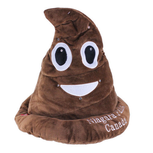 Niagara Falls Light-UP Flashing Emoticon Poop Hat