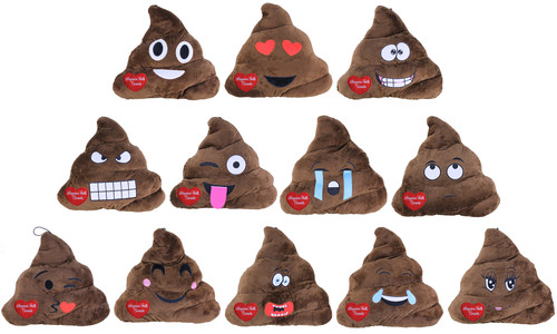 Niagara Falls Plush Emoji Poop Pillow