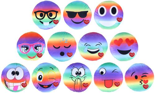 Niagara Falls Plush Emoji Rainbow Pillow