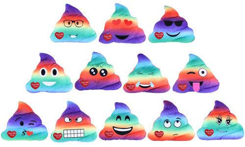 Niagara Falls Plush Emoji Poop Rainbow Pillow
