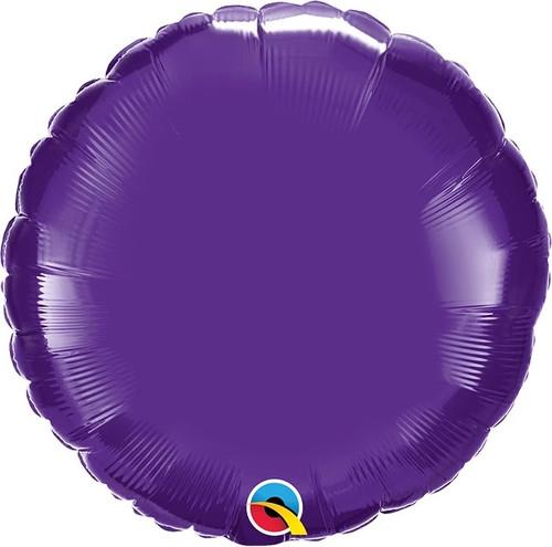 "Quartz Purple Round 18"" Foil Balloon"