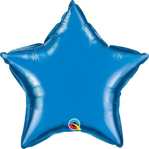 """Sapphire Blue Star 20"""" Foil Balloon"""