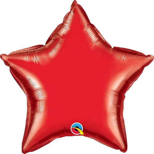 """Ruby Red Star 20"""" Foil Balloon"""