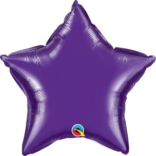 "Quartz Purple Star 20"" Foil Balloon"