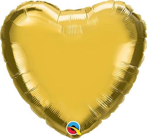 "Metallic Gold Heart 18"" Foil Balloon"
