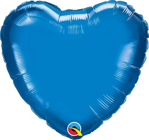 "Sapphire Blue Heart 18"" Foil Balloon"