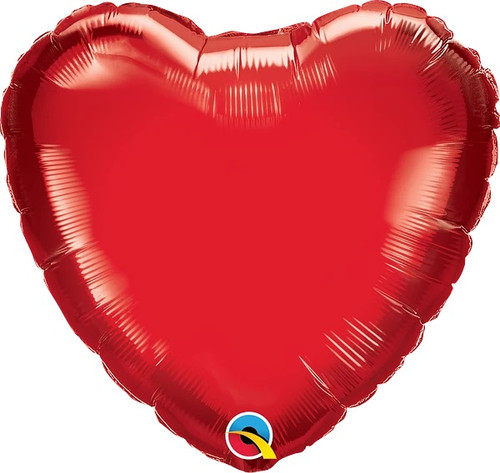 """Ruby Red Heart 18"""" Foil Balloon"""