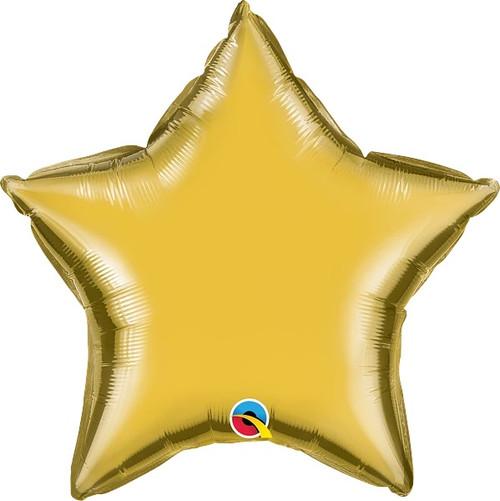 "Metallic Gold Star 20"" Foil Balloon"