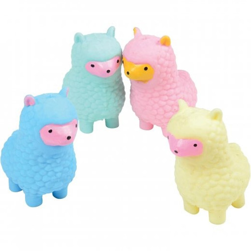 Smooshy Stress Alpaca. These cheery alpacas are the perfect anti anxiety toy. Squeeze them to release stress or calm fidgeting hands.