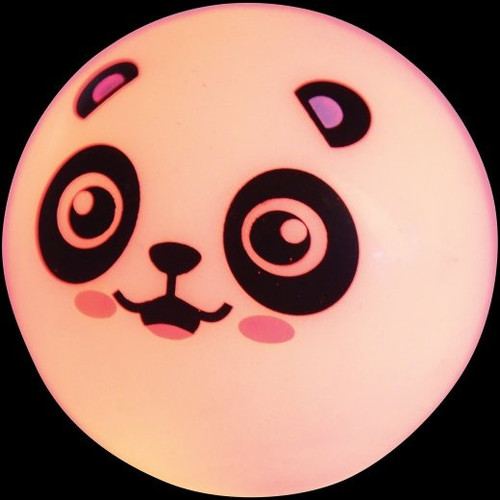 Flashing Panda Ball. Bounce these cute panda balls and they'll flash right back. Batteries are not replaceable and not accessible.
