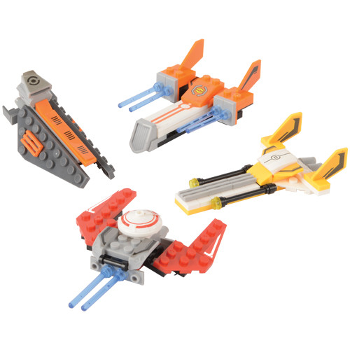 Star Exploration Bricks. Enthrall your little master builders with these Star Exploration brick sets. Easily put their brick-building skills and imagination to the test as they construct the intergalactic ship of their dreams! In 4 assorted designs, each set comes individually packaged, making them perfect as party favors for your next event.