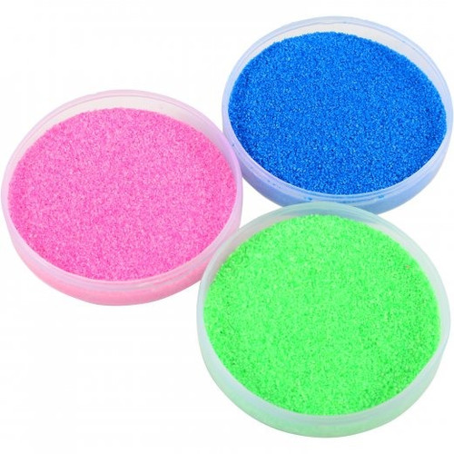 Magic Sand. This magic sand repels water. Poor water over it and the sand doesn't get wet.