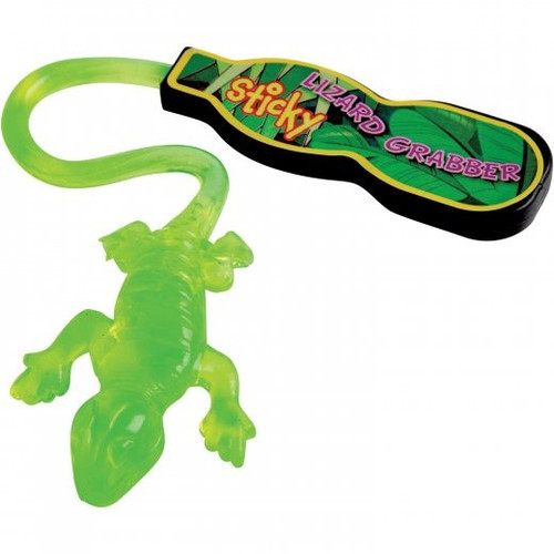 Sticky Lizard Grabber. These sticky reptiles make great party prizes. Wash reptiles when they get dirty. When they dry, they'll be sticky again.