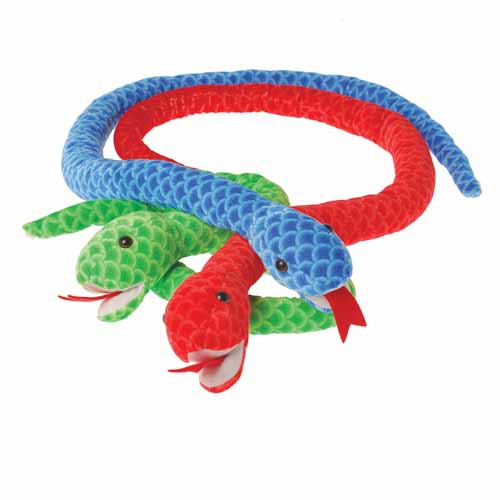Jumbo Plush Scaly Snakes. Scaly snakes that won't shed their skins. They like being cuddled to much for that. Every carnival or party game needs a great prize. Plush stuffed animals are the ultimate carnival redemption prize. Kids of all ages love to win these furry creatures.