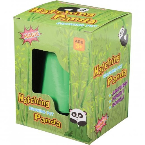 Hatch & Grow Panda. Hatch and grow your own pet panda. Panda shrinks back to normal size as it dries and can be used again.