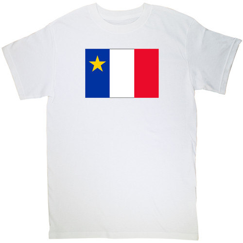 Acadian Flag - Drapeau acadien Classic Small T-Shirt. This soft and durable t-shirt is the perfect tee to sport at a Acadian Festival to show your Acadian Pride.