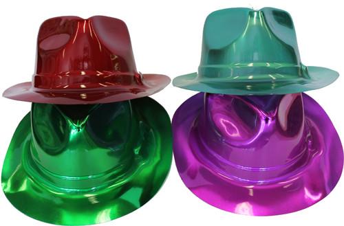 Metallic Fedoras Hats