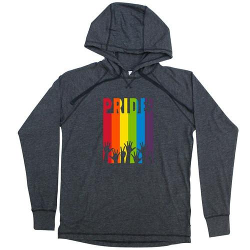 Rainbow Pride Crowd X-Large Jersey Hoodie