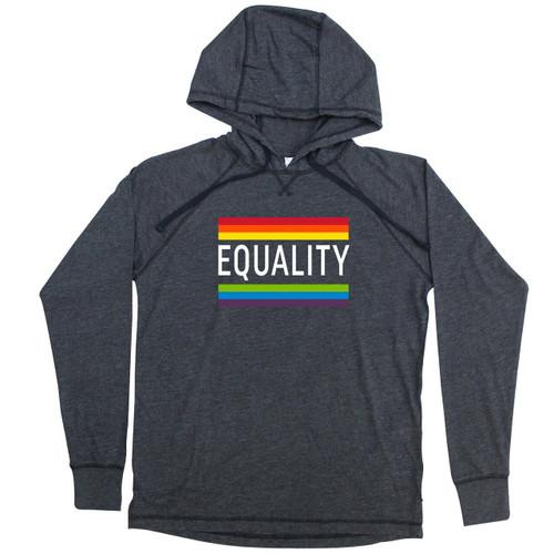 Rainbow Pride Equality Large Jersey Hoodie
