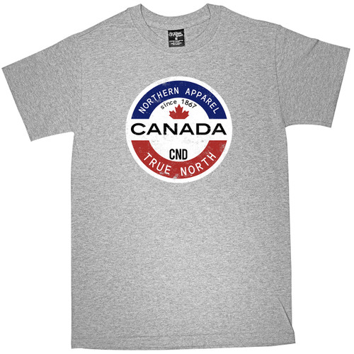 Canada Blue/White/Red Circle Adult Tee