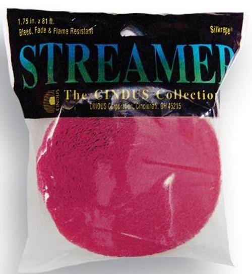 Bombay Pink Crepe Streamer - 81 Ft