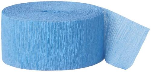 Light Blue Crepe Streamer - 81 Ft